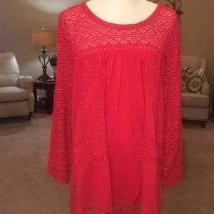 New without tag beautiful red longsleeved shirt